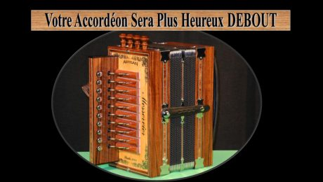 Accordéon diatonique debout