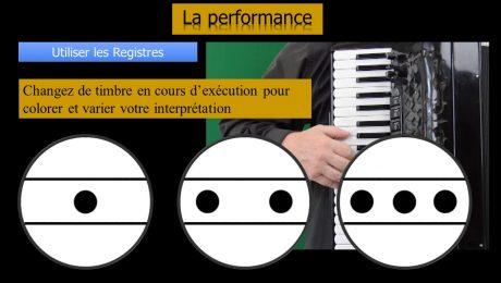 Changer de registres d'accordéon