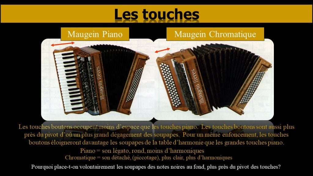 Touches piano vs touches bouton